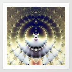 Psychedelic Sun Art Print