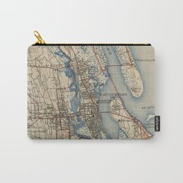 Vintage Map of St. Augustine Florida (1937) Carry-All Pouch