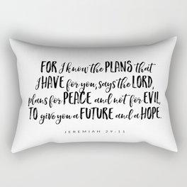 Jeremiah 29:11 - Bible Verse Rectangular Pillow