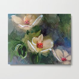 Night Blooming Dogwood Metal Print
