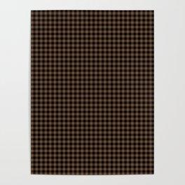 Mini Black and Brown Coffee Cowboy Buffalo Check Poster