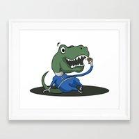 trex Framed Art Prints featuring Fantastic Mr. TRex by Megan Yiu