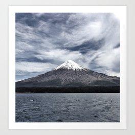 Volcano Osorno Art Print