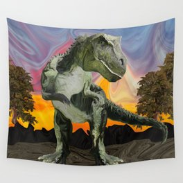 Tyrannosaurus Rex at the Twilight Hour Wall Tapestry