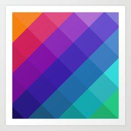 Cubical Colors Art Print