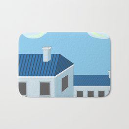 Blue roofs Bath Mat