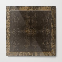 Snake Skin Natural Metal Print