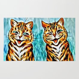 "Louis Wain's Cats ""Winking Cats"" Rug"
