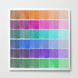 Swatches Metal Print