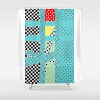 dots Shower Curtains featuring DOTS by  ECOLARTE