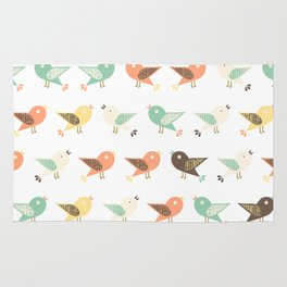 Assorted birds pattern Rug