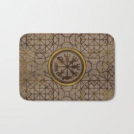 Vegvisir. The Magic Navigation Viking Compass Bath Mat