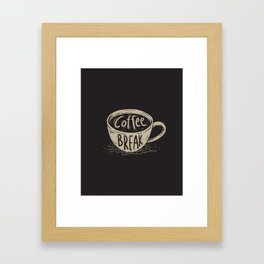 Coffee Break Painting Artwork Framed Art Print