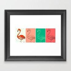 Fourmingos Framed Art Print