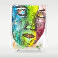 selfie Shower Curtains featuring selfie by Fernando Eizaguirre
