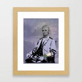 Inked Lincoln Framed Art Print