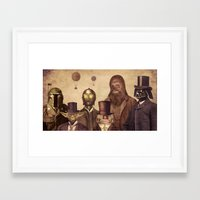 starwars Framed Art Prints featuring Victorian Wars  by Terry Fan