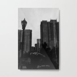 When We Reflect Black and White Metal Print