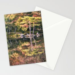 Japanese Garden, colorful in autumn in Kyoto. Stationery Cards