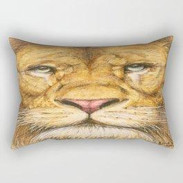 Regal Lion Drawing Rectangular Pillow