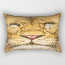 Regal Lion Drawing Rectangular Pillow