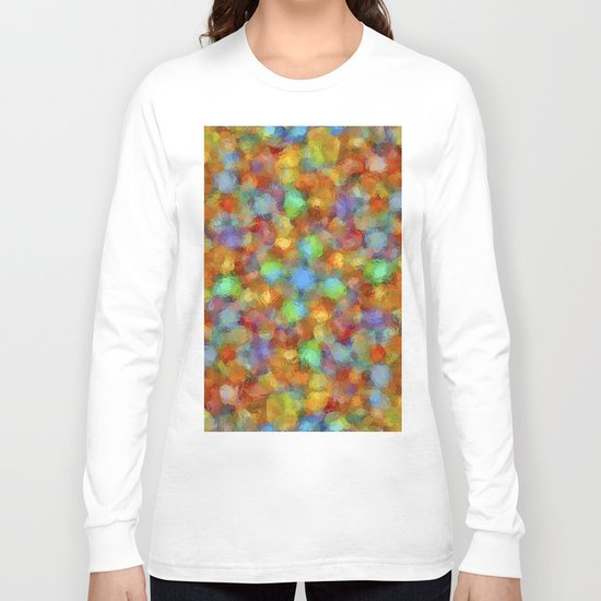 Abstract Watercolour Bubbly Pattern Long Sleeve T-shirt