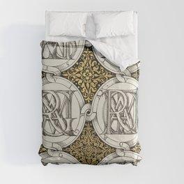 European Columbines and Sweet Cherry from Mira Calligraphiae Monumenta or The Model Book of Calligra Comforters