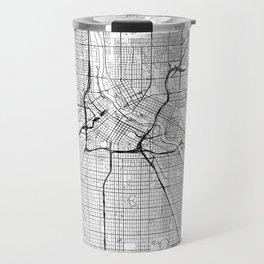 Minneapolis Map White Travel Mug