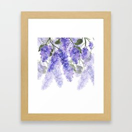 Purple Wisteria Flowers Framed Art Print