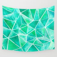 emerald Wall Tapestries featuring Emerald by Jamworth