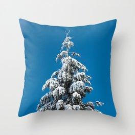 Winter Forest Fir Tree Snow X - Nature Photography Throw Pillow