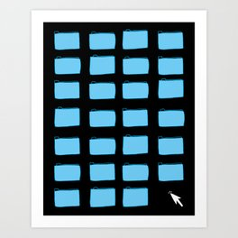 Desktop (Black) Art Print