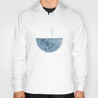 moon Hoodies featuring Mown by Enkel Dika