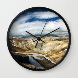Landmannalaugar II Wall Clock