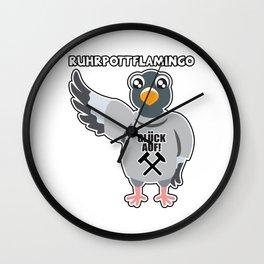 Ruhr Flamingo Wading Bird Wall Clock