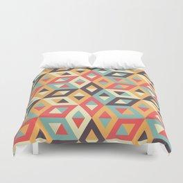 Pastel Geometric Pattern Duvet Cover