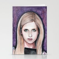 buffy Stationery Cards featuring Buffy Summers by Morgan Allain, The Inkling Girl