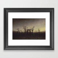Abbey among Oak Trees by Caspar David Friedrich Framed Art Print