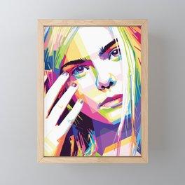 Elle Fanning Framed Mini Art Print