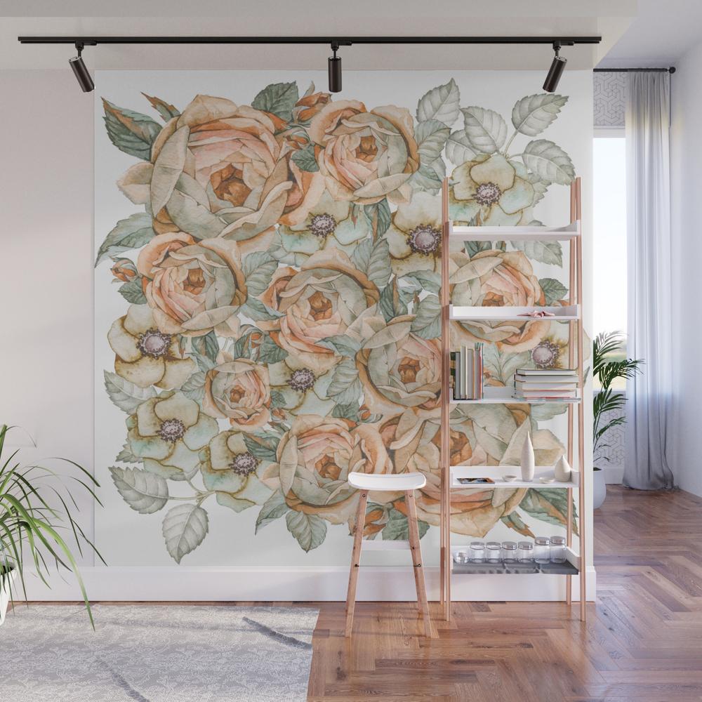 Flower Jungle Vii Wall Mural by Nikainwonderland WMP8697641