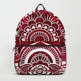 Mandala Red Colorburst Backpack