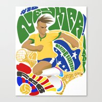 neymar Canvas Prints featuring Neymar by Simon Estrada