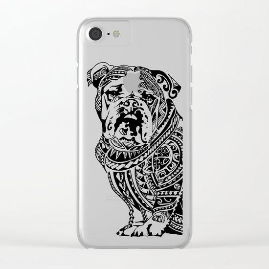 Polynesian English Bulldog Clear iPhone Case