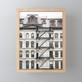 Tribeca Fire Escapes - New York Architecture Photography Framed Mini Art Print