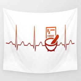 PHARMACIST HEARTBEAT Wall Tapestry