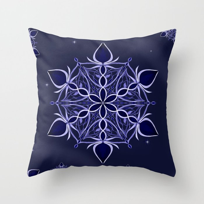 Silver and Sapphires Throw Pillow