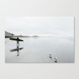 Surfing at Sumner Canvas Print