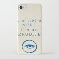 divergent iPhone & iPod Cases featuring NERD? ERUDITE - DIVERGENT by MarcoMellark