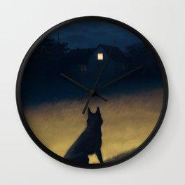 Night in the Hills Wall Clock