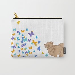 Watching my dog run through a field to see it explode with butterflies. By Priscilla Li Carry-All Pouch